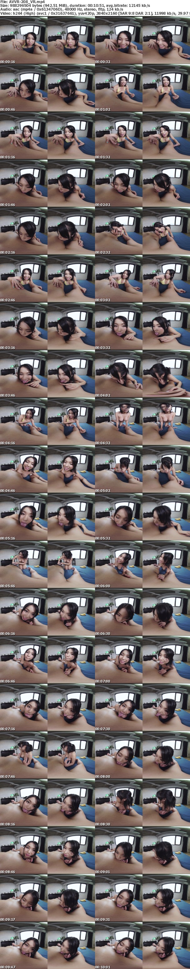 VR/3D AVVR-208 【VR】ラブラブちゅっちゅっちゅ乳首舐め手コキ 水澤りこ