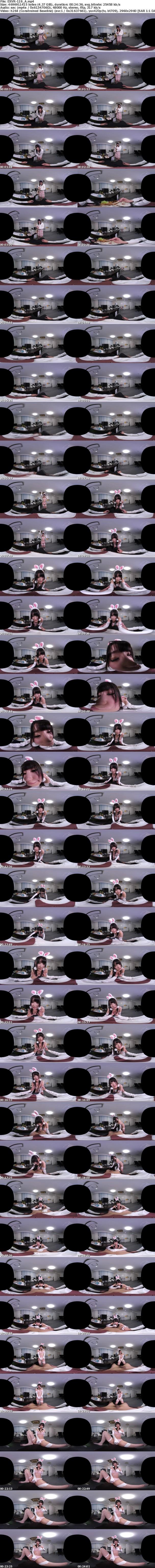 VR/3D [EXVR-119] 【VR】波木はるかが頑張るあなたを応援! 残業中のオフィスでコスプレ中出しSEX!!