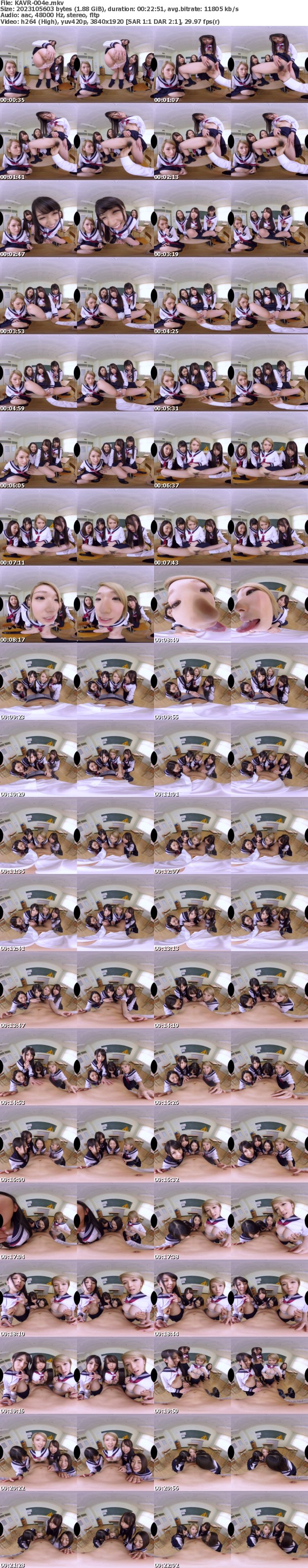 VR/3D [KAVR-004] 【VR】最高かよ!男女比率1:9ほぼ女子校ラッキースケベVR 鉄板あるあるエロシチュエーション長尺140分ハーレム大乱交スペシャル
