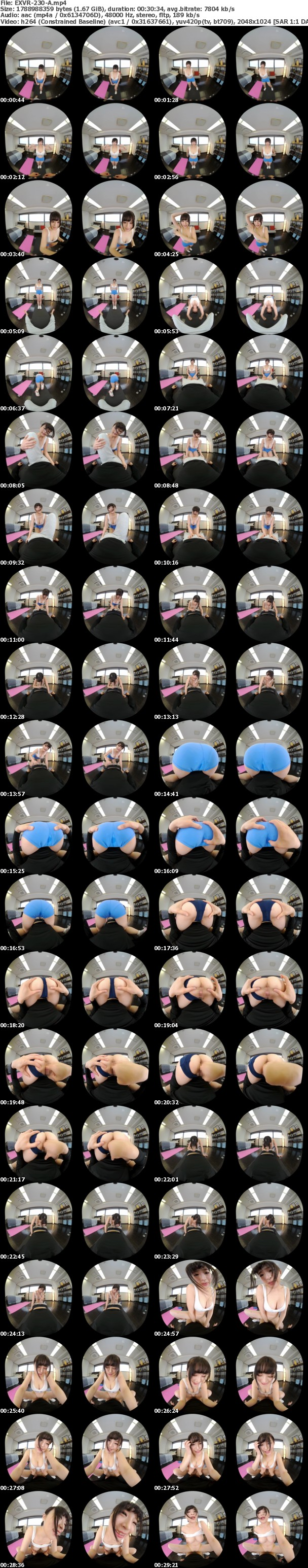 (VR) EXVR-230 美巨乳カリスマインストラクターSさんと秘密の汗だくナマSEXトレーニング