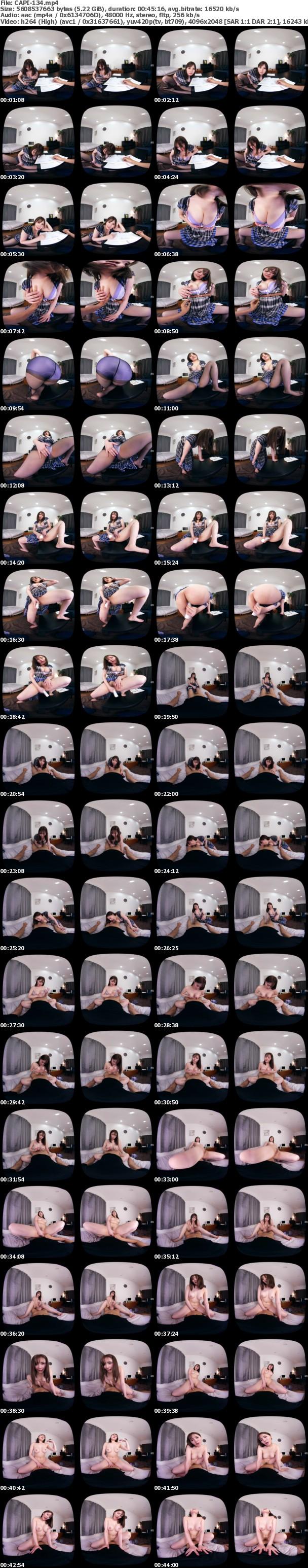 (VR) CAPI-134 超ド迫力映像!Gカップ痴女家庭教師の悩殺性教育がとてつもなく卑猥。藤白桃羽