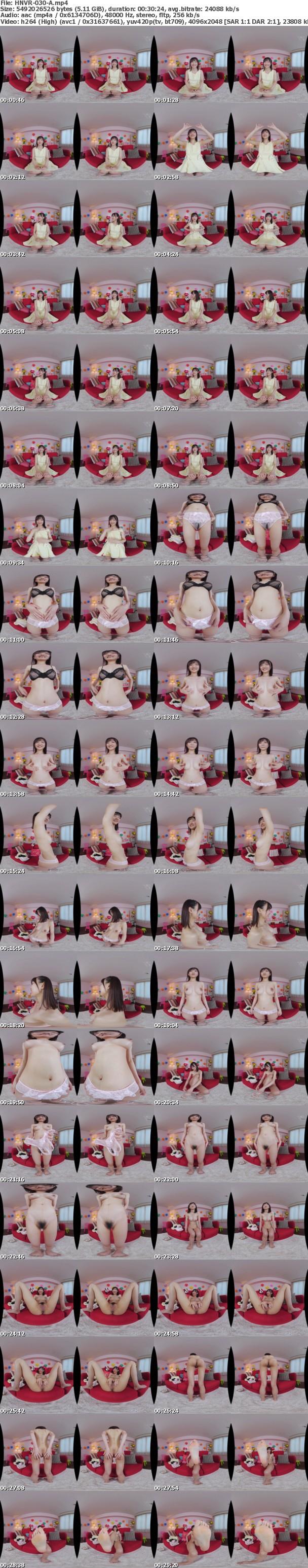 (VR) HNVR-030 さっきまで恥ずかしそうにインタビューに応えてくれた女のコと生SEX! 脱がせたら形のいいFカップ乳 プリンと上向きかわいい乳首にウエスト51cmの極細くびれ 神スリム女子大生初めての中出しVR 乙葉カレン