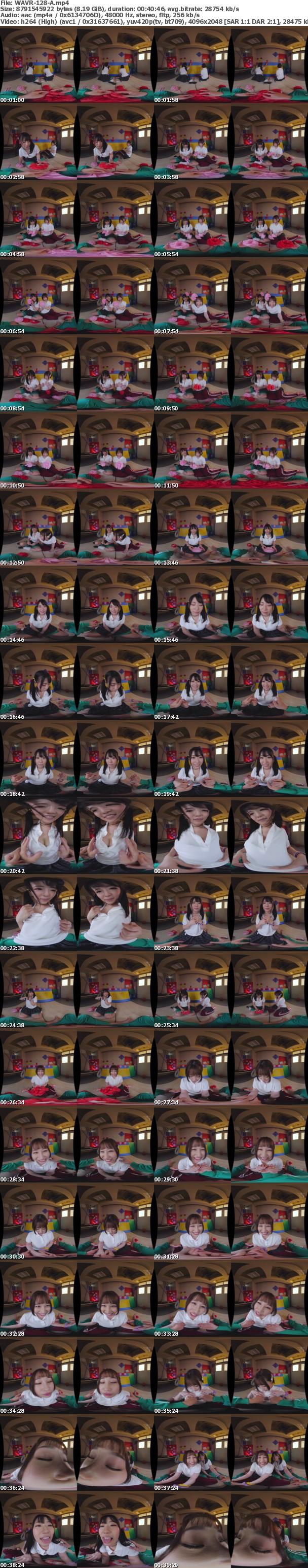 (VR) WAVR-128 どっちとエッチしたい!? 超学園天国ハーレム3PVR 文化祭の準備中に女のコから同時に告白!!どっちか選べないボクはその場で両方ハメハメ