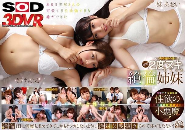 (VR) 3DSVR-0825 絶倫姉妹 父の再婚相手の連れ子が性欲が強すぎて親に内緒でどんな時も姉妹平等に毎回2度ヌキしてくる 宮沢ちはる×枢木あおい