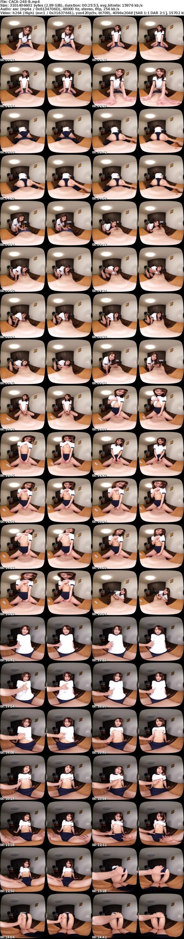 (VR) CACA-248 ノーブラじょしこーせー~制服とブルマ姿で愉しむロリ可愛いコとの性活~ 東條なつ