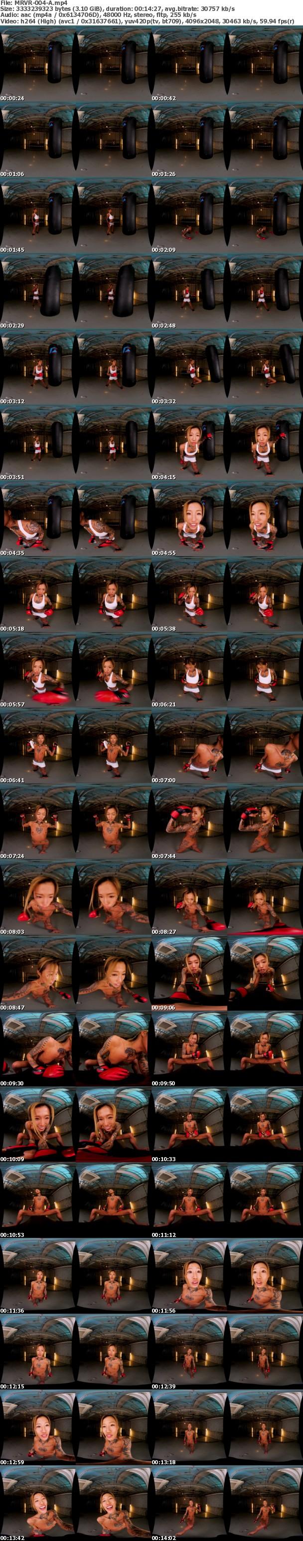 (VR) MRVR-004 黒ギャル格闘家の暴力的射精管理でM男が再起不能になるまで逆レ●プ:3ラウンド 鮫島るい