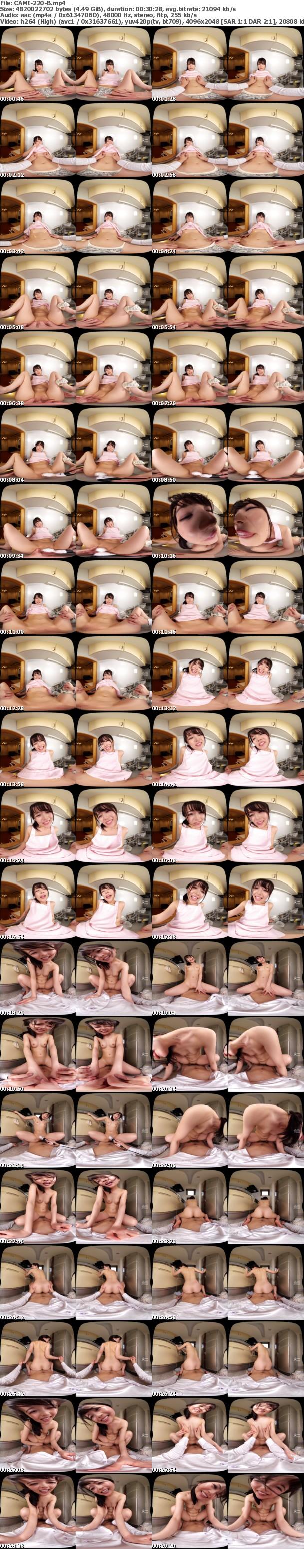 (VR) CAMI-220 キッチンで作業する彼女にセクハラ!怒られるもめげずにセクハラしていると欲情した彼女が迫ってきて…キッチンでイチャラブエッチ! 宮沢ちはる