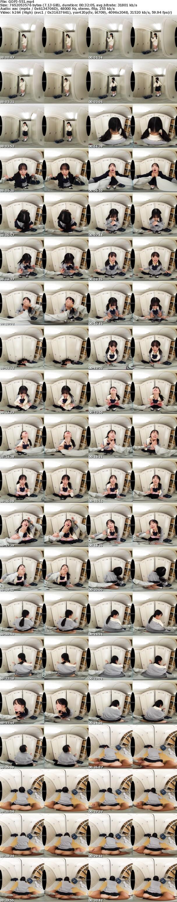 (VR) GOPJ-551 HQ 劇的超高画質 制服美少女 更衣室レ×プ 逃げ場の無い密室で怯え震えても行為は続き恥辱中出し